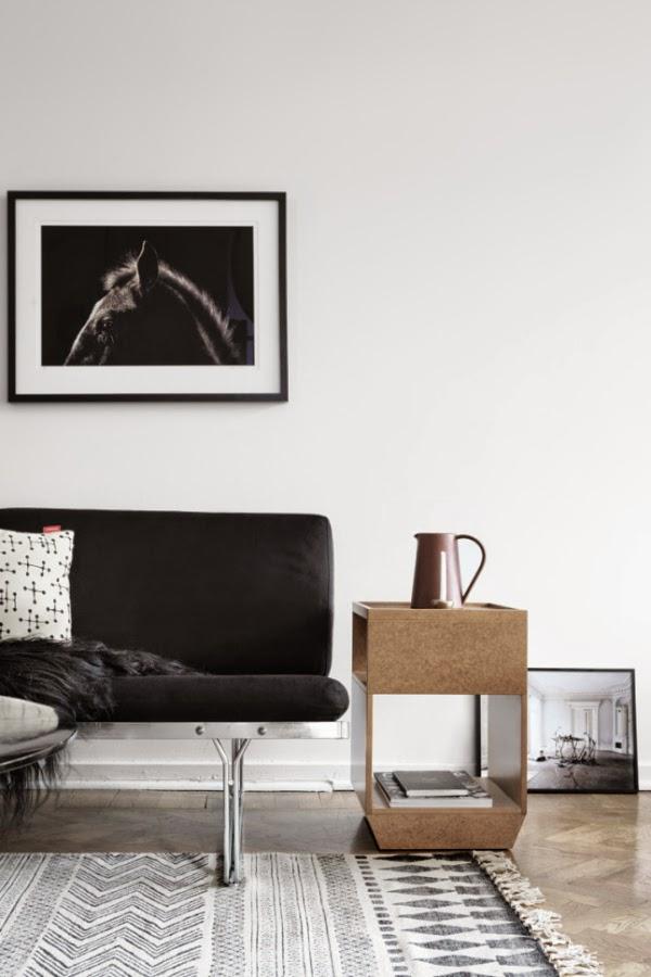 Moody White Living Room