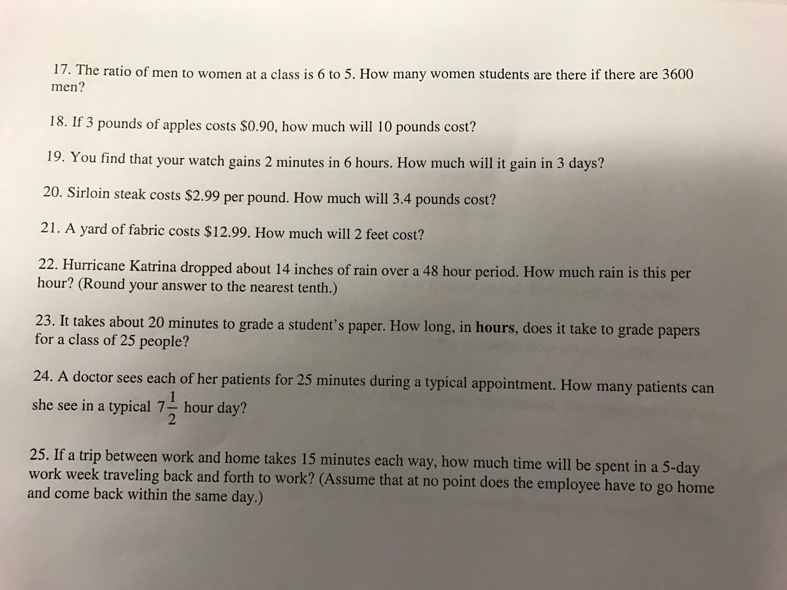 Math with Mrs  Rooks: 1/24/17 Solve Proportions in Story Problems
