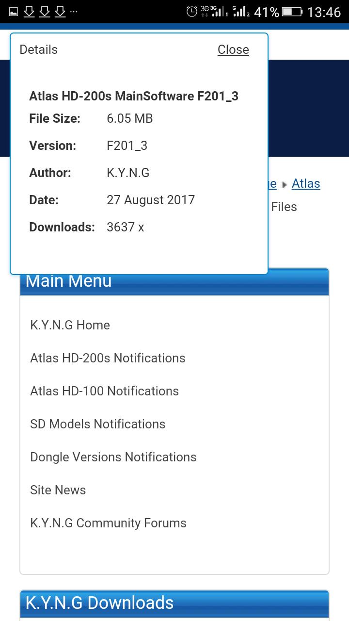 تحديث جديد لتطبيق اليوتيوب Youtube Application: تحديث جديد اطلس Mise à Jour Atlas HD200s F201_3