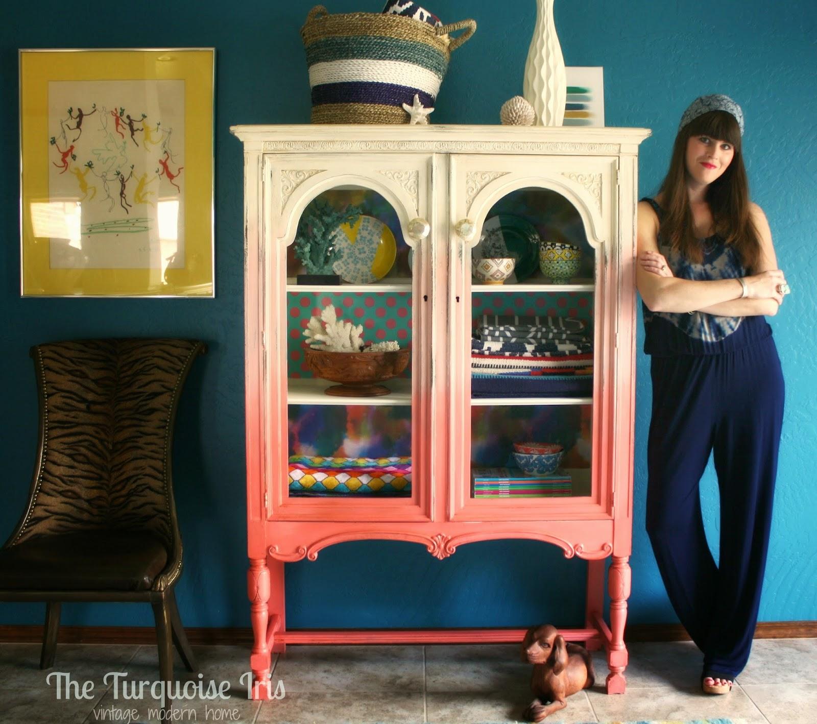 Furniture & Art: Coral Ombre' Cabinet