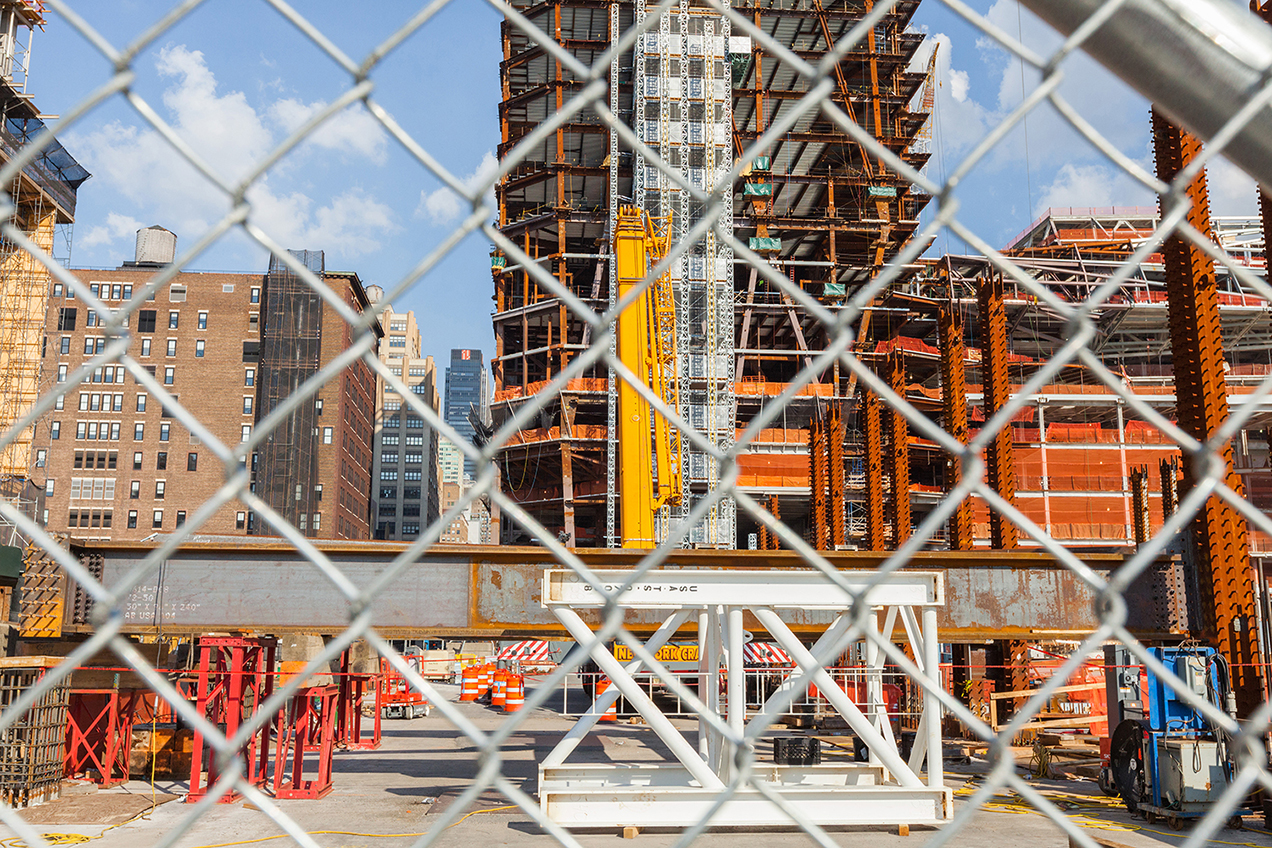 Chelsea Grids - Photographs of Construction Sites in West Chelsea in New York City by Mirena Rhee