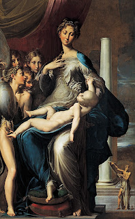 Parmigianino's Madonna with the Long Neck highlights his exaggerated style