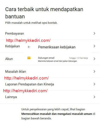 Cara menghubungi pihak adsense lewat email3