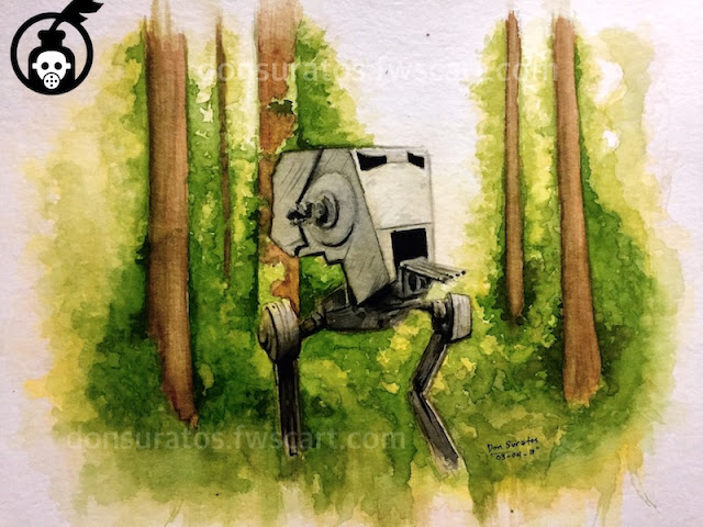 Endor Watercolor Painting Photo