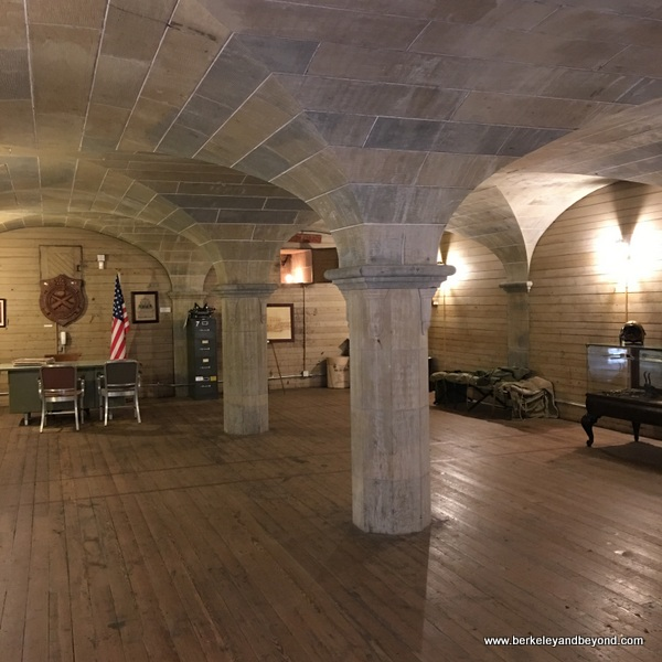 interior of powder magazine at Benicia Historical Museum at the Camel Barns in Benicia, California