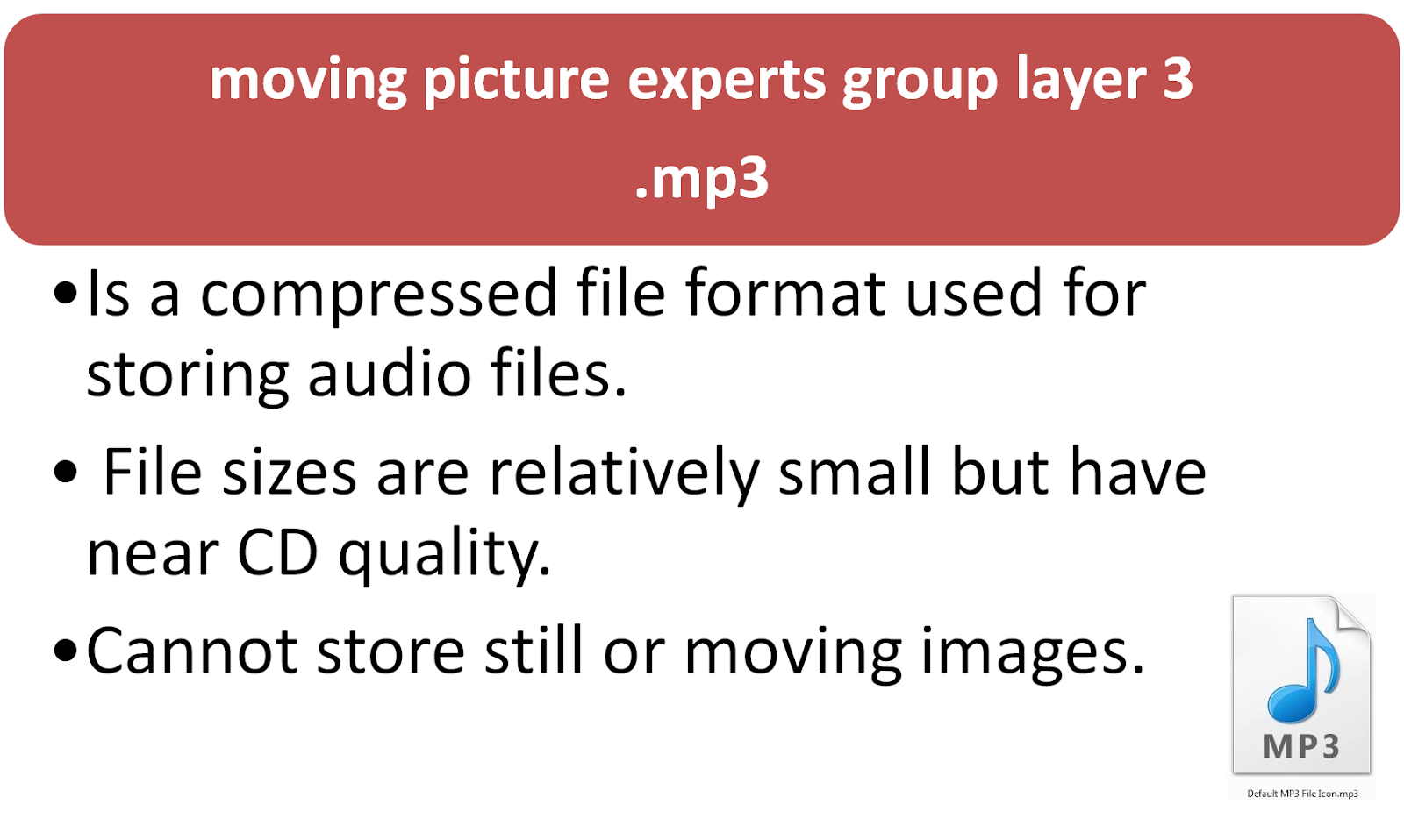 the moving picture experts group layer 3 an mp3 analysis The mpeg standards are an evolving set of standards for video and audio compression developed by the moving picture experts group  analysis grc  mpeg-3.