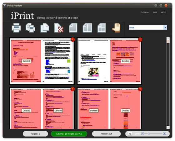 iPrint delete page, 2 page in 1 sheet