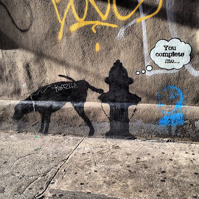 banksy you complete me new york damaged