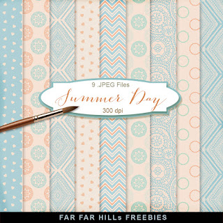 New Freebies Kit of Backgrounds - Summer Day