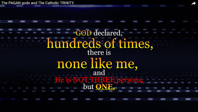 GOD declared hundreds of times, there is none like me, and He is NOT THREE persons,  but ONE.