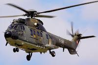 Helicóptero ambulancia usado para MEDEVAC en la Guerra de las Malvinas