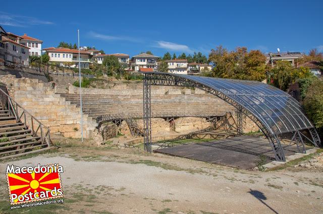Антички театар - Охрид, Македонија - поглед кон север