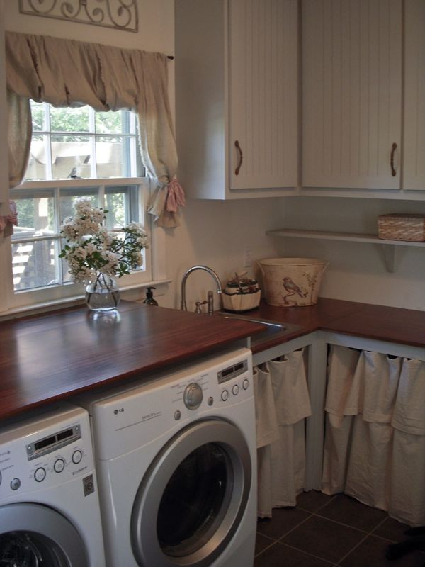 Laundry Room Window Treatments | Interior Decorating