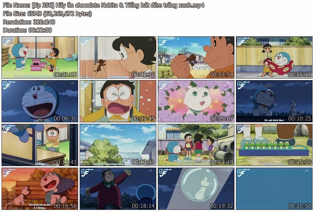 [Doraemon Ep 356] Hãy ăn chocolate Nobita & Tiếng hát đêm trăng xanh
