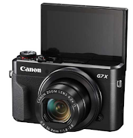 This PowerShot G7X series has a simple, minimalist and elegant design. The shape is the same as other digital cameras. With the dominance of black, making the appearance of Canon's digital camera really interesting.