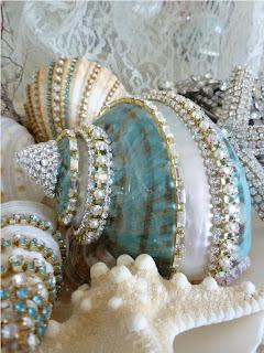 Deniz Kabuklarını Swarosvki Taşlarla Süsleme