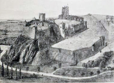 A reconstruction of Nottingham Castle.