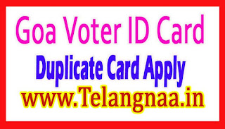 Duplicate Goa Vote ID Card Online Apply
