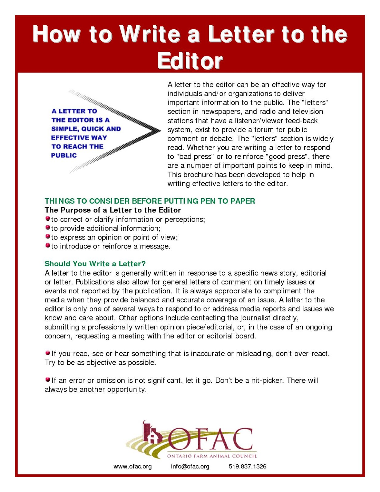 Editor Letter – Sample Letter To The Editor