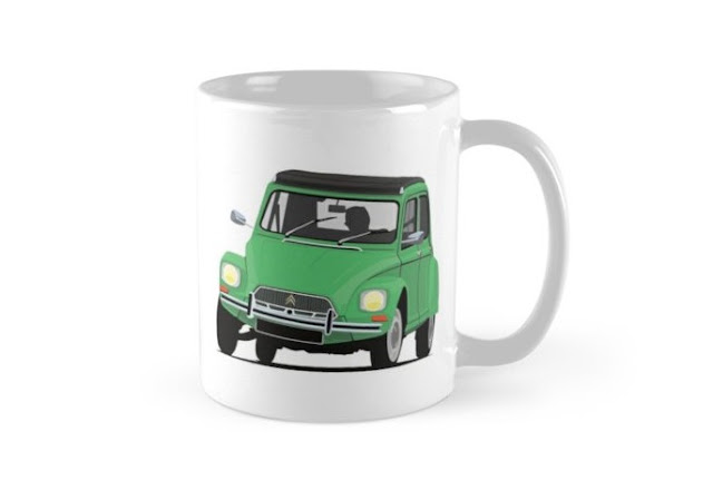 Classic cars - Citroen Dyane - coffee mug