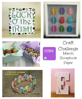 CCBG challenge march scrapbook paper