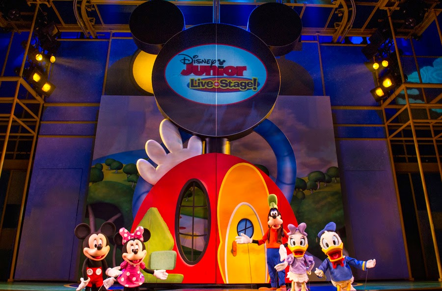 Personagens no Disney Junior Live on Stage no Hollywood Studios em Orlando