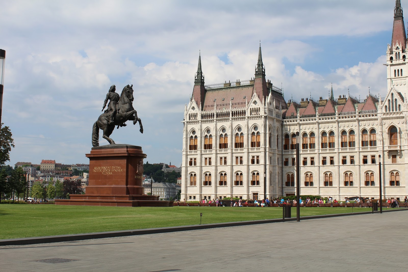 Statue and Hungarian Parliament Building, Budapest