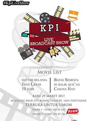 Nobar Film Karya Mahasiswa KPI IAIN Pontianak