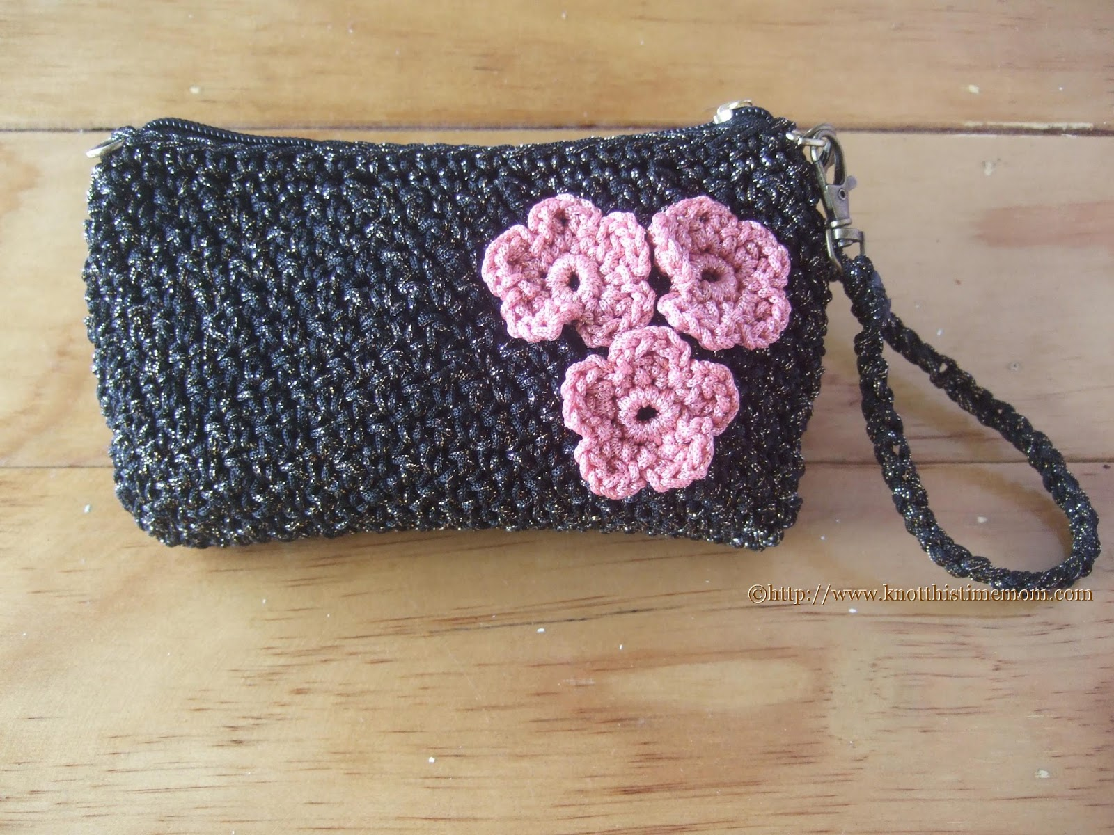 Metallic Evening Purse with Detachable Strap Free Pattern