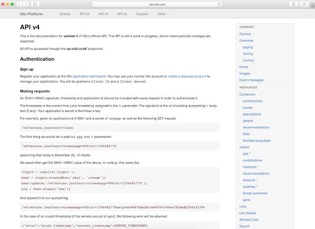 Versión de API imagen