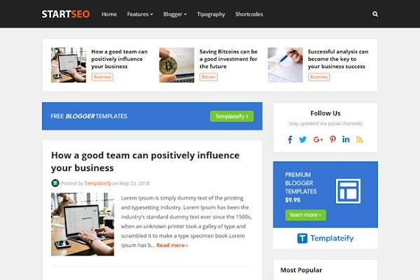 StartSeo Responsive Blogger Template