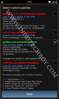 Lucky Patcher Android app rebuild apk custom patch select