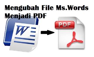 Cara Mengubah File Ms.Words Menjadi PDF