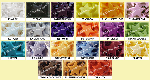 The Latest News from KAMsnaps com: New Star-Shaped KAM Plastic Snap