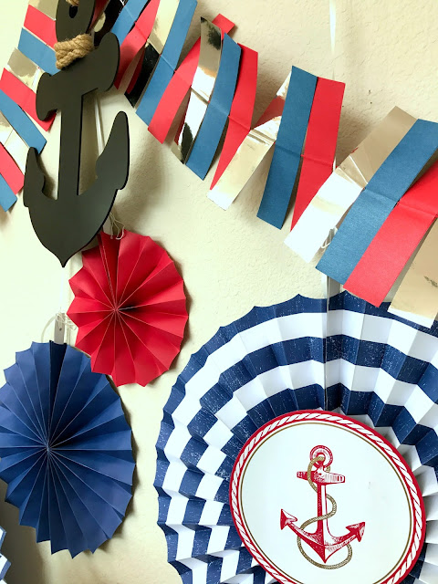 Anchor themed party supplies