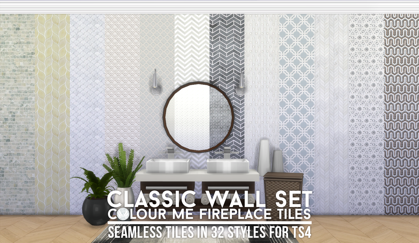 Simsational Designs: UPDATED - Look At Me! Fireplace and Walls