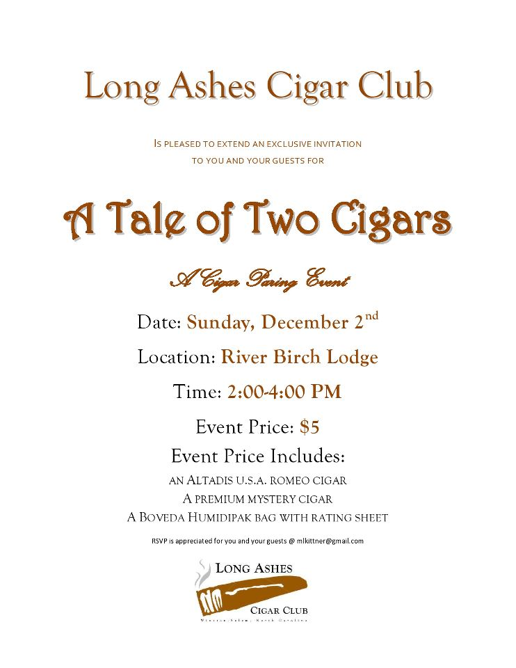 Long Ashes Cigar Club Winston Salem Nc A Tale Of Two Cigars