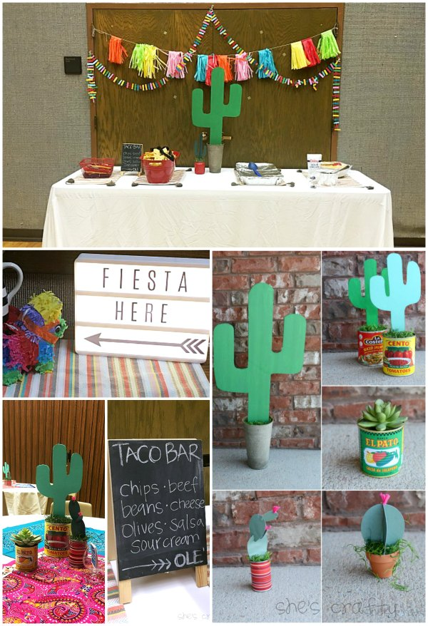 taco bout friendship, taco party, fiesta, cactus