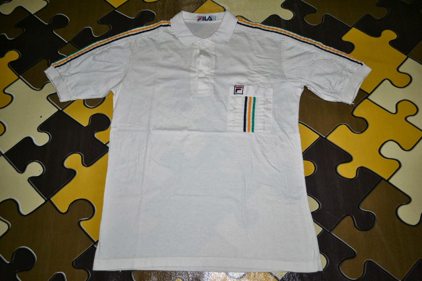 559ffa74574 OldSchoolZone: Vintage 80s FILA Made in Italy rare polo shirt