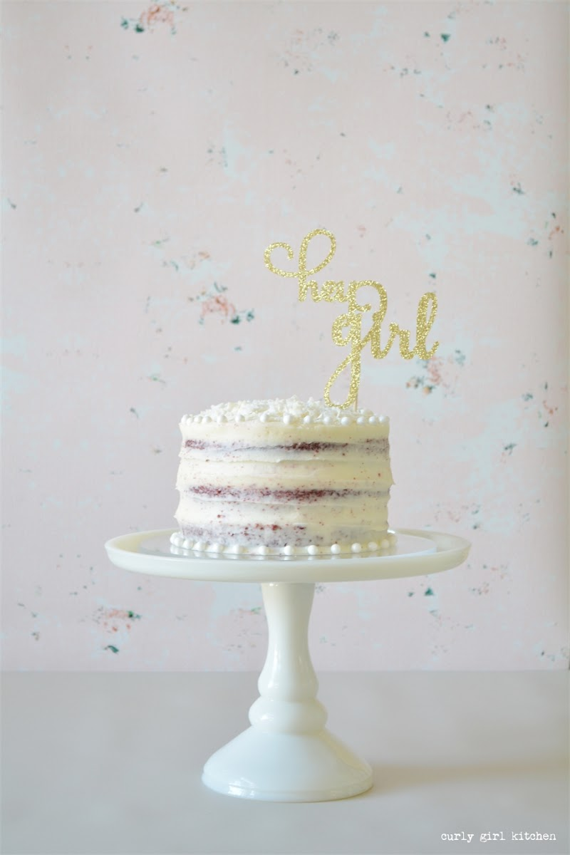Red Velvet Cake, Hey Girl, New Year's Day, Hey Girl Cake Topper