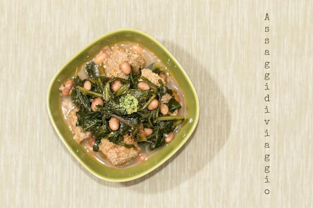 Zuppa della nonna con verdure, fagioli e funghi