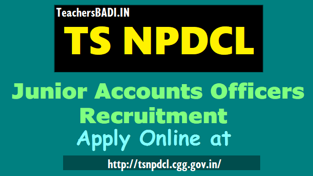 tsnpdcl junior accounts officers(jao) recruitment 2018,ts northern power jao recruitment online application form,tsnpdcl jaos recruitment 2018 hall tickets results selection list results