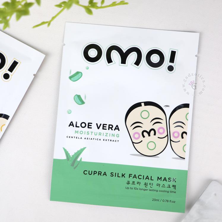 review omo cupra silk facial mask aloe vera
