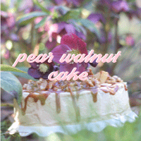 pear walnutcake