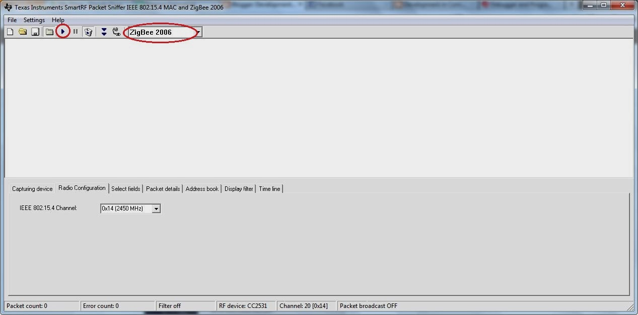 Using TI CC2531 USB Evaluation Module Kit as Zigbee Sinffer
