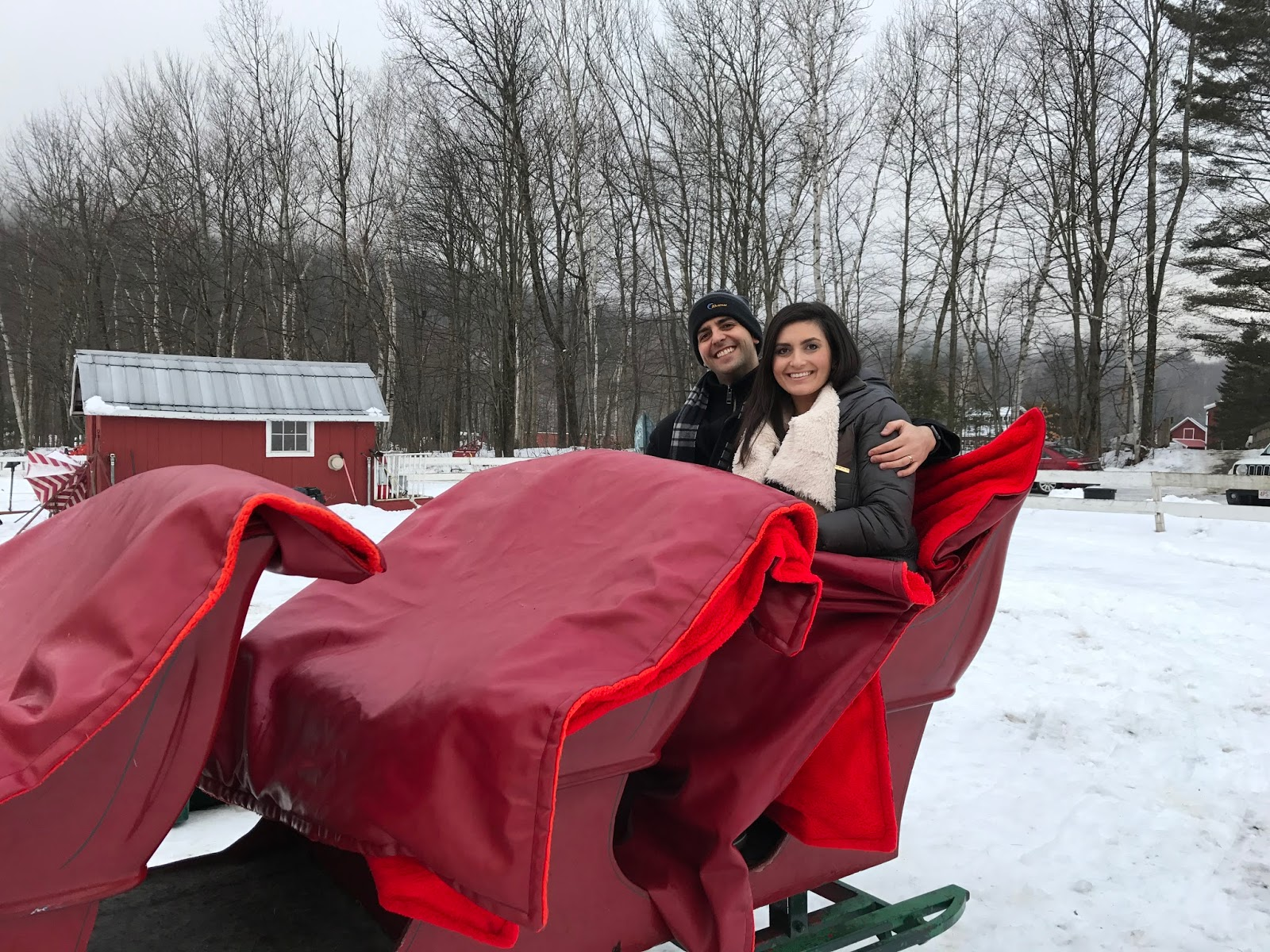 sleigh ride in vermont, gentle giants sleigh