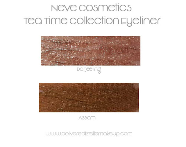 Neve Cosmetics Eyeliner swatches Tea Time Collection