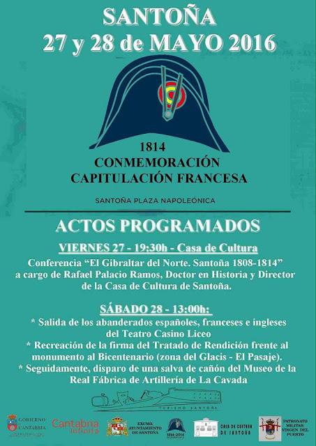 Conmemoración de la Capitulación de las Tropas Francesas 2016 en Santoña