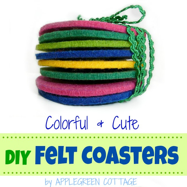 How to make easy felt coasters