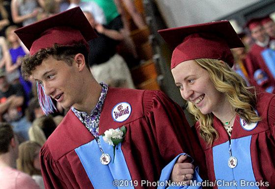 Keanen Swanson escorts classmate Rylee Walsh
